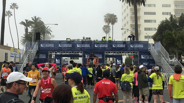 Los Angeles Marathon 2016 finish line view