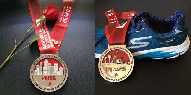 Los Angeles Marathon 2016 medal
