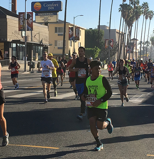 Mike Sohaskey at Mile 12 of Los Angeles Marathon 2016