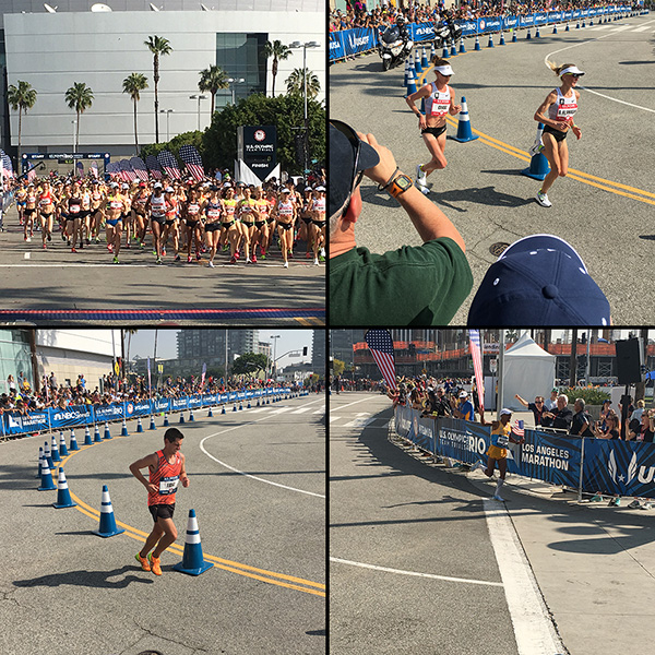 Olympic Marathon Trials 2016 in Los Angeles collage