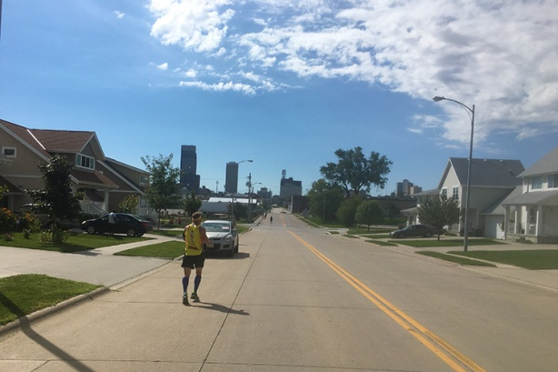 Mile 25 of Omaha Marathon