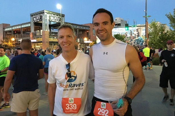 Mike Sohaskey & Dan Solera at Omaha Marathon start