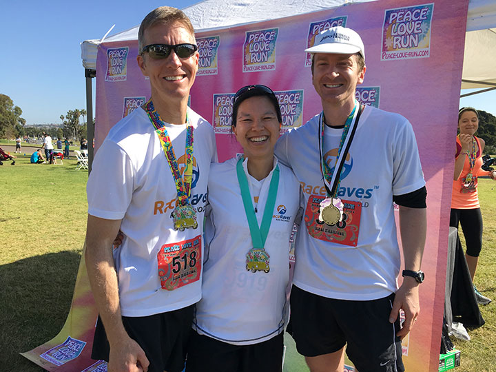 Peace Love Run San Diego 2016 with Mike Sohaskey, Katie Ho, Alan Nawoj