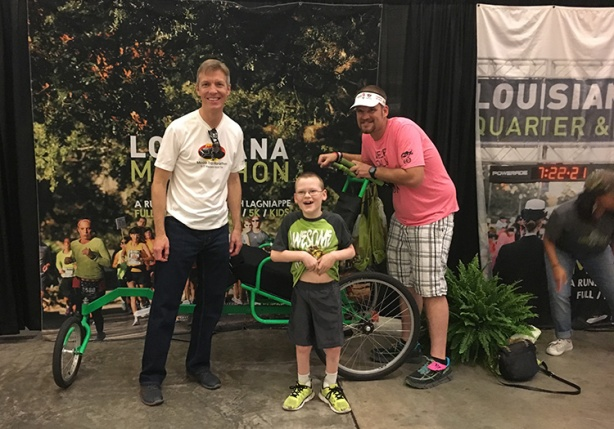 Mike Sohaskey, Joey and James D at the Louisiana Marathon expo