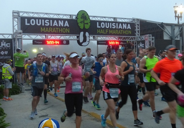 Louisiana Marathon start