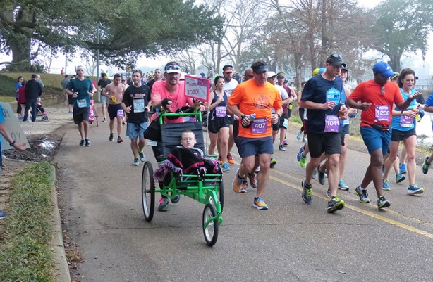 Team JoJo at mile 9 of the Louisiana Marathon