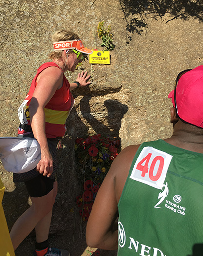 Paying homage to Arthur's Seat at Comrades Marathon
