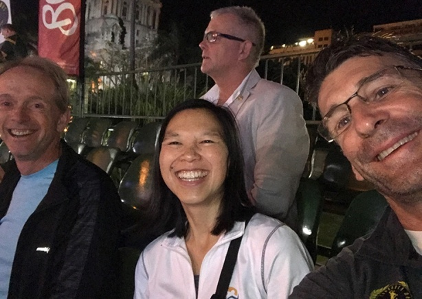 Bruce Fordyse-Katie-Rory Steyn Comrades Marathon VIP seating