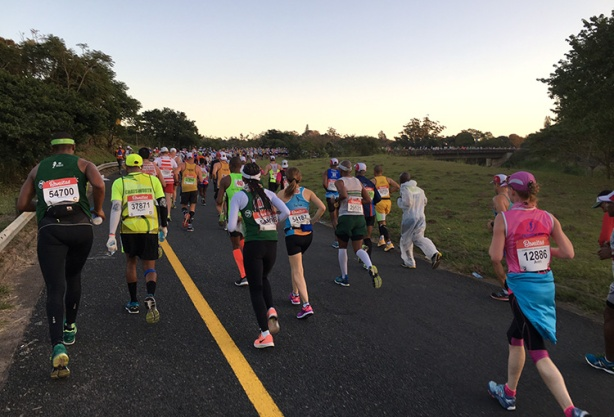 Base of Cowies Hill at 2017 Comrades Marathon