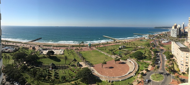 Durban view from Southern Sun Elangeni (for Comrades Marathon)