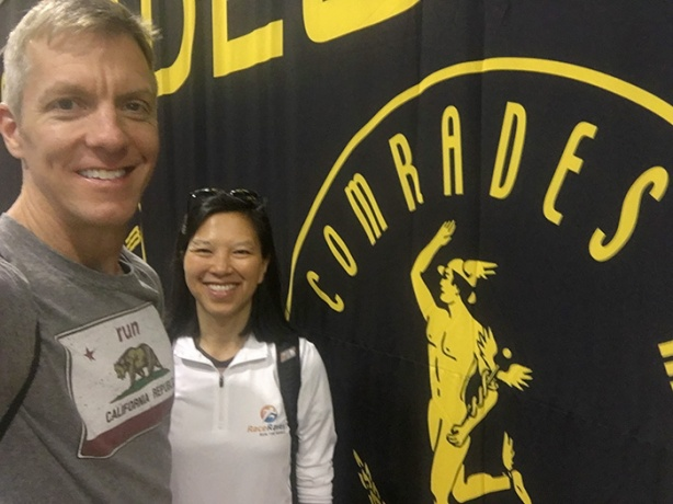 Mike Sohaskey and Katie Ho at 2017 Comrades Marathon expo