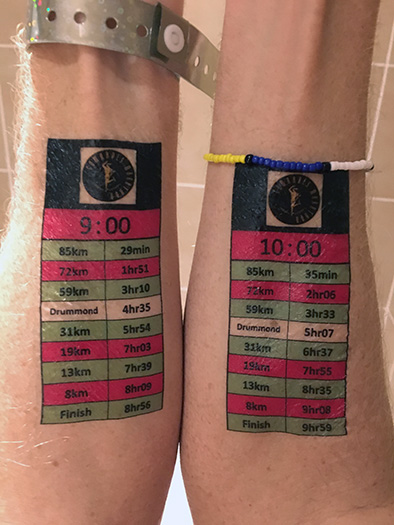 2017 Comrades Marathon 9- and 10-hr pacing bands