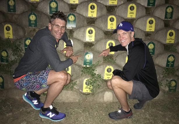 Rory Steyn and Mike Sohaskey at Comrades Marathon Wall of Honour