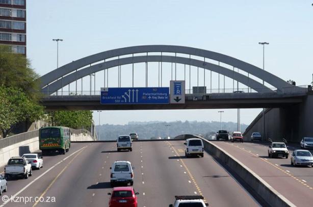View of Tollgate Bridge along Comrades Marathon course