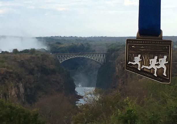 Victoria Falls Marathon medal