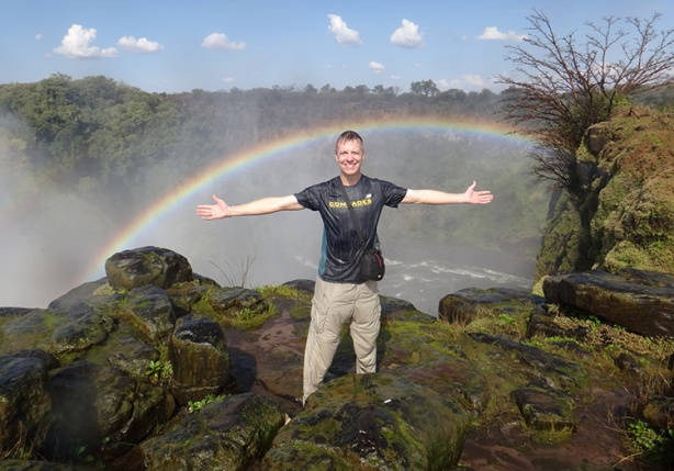Mike Sohaskey at Victoria Falls