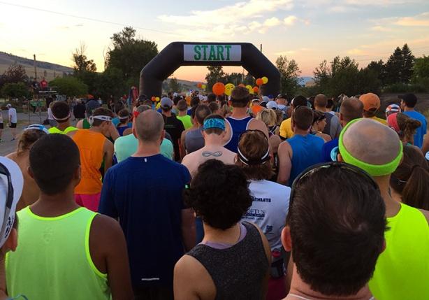 Missoula Marathon 2017 start line