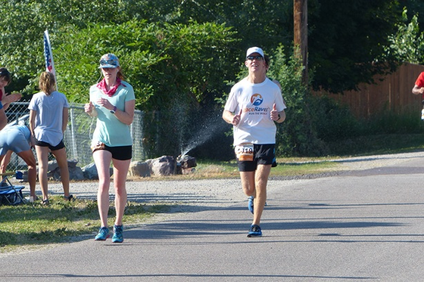 Mike Sohaskey at mile 21 of Missoula Marathon