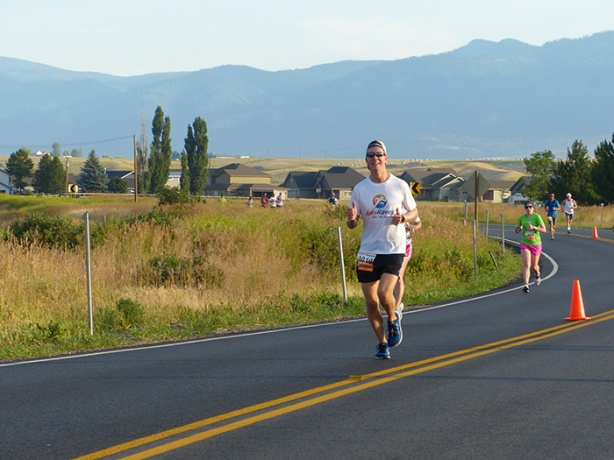Mike Sohaskey - mile 9 of Missoula Marathon 2017