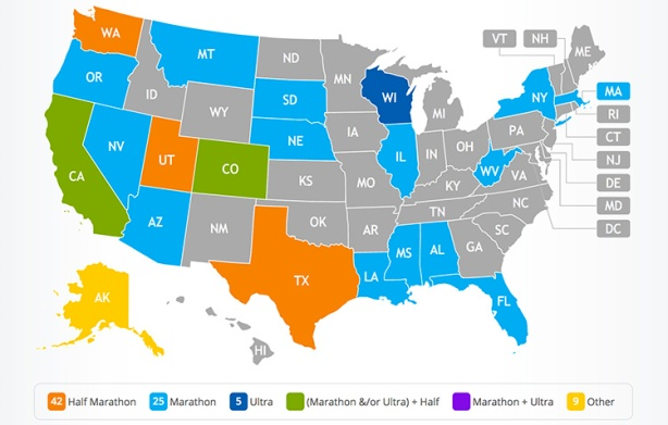 Mike Sohaskey's 50 States map (after Run Rabbit Run)