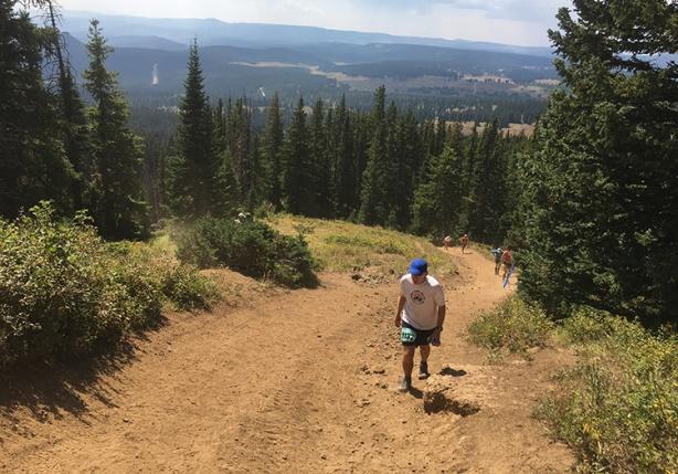 Hike to Rabbit Ears (Run Rabbit Run 50, mile 25)