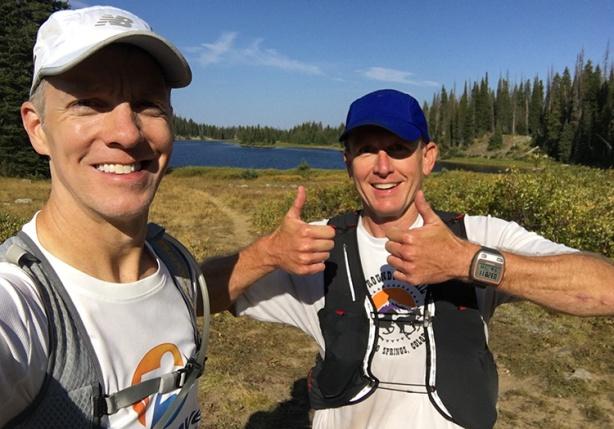 Mike Sohaskey and Ken Spruell at Long Lake (Run Rabbit Run, mile 14)