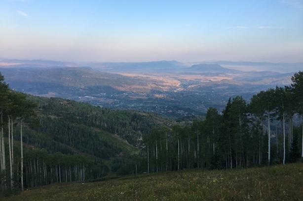 View of Steamboat Springs (Run Rabbit Run, mile 3)