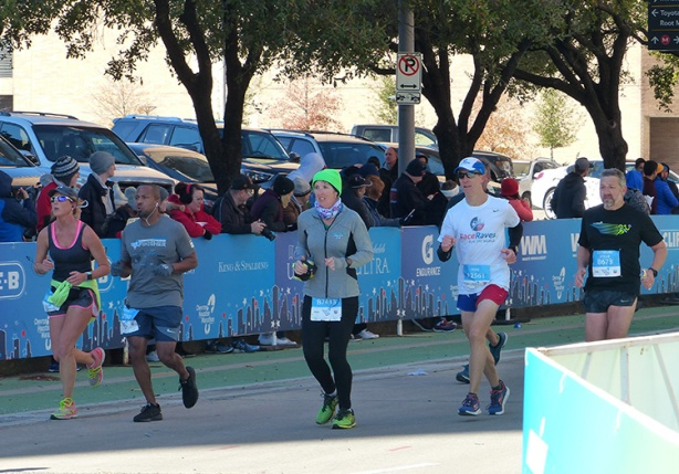 Mike closing the gap at the Houston Marathon finish