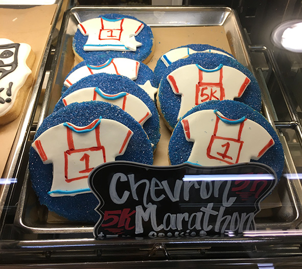 Chevron Houston Marathon cookies
