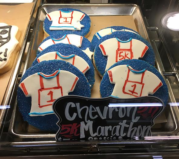 Chevron Houston Marathon cookies c505dc635cc