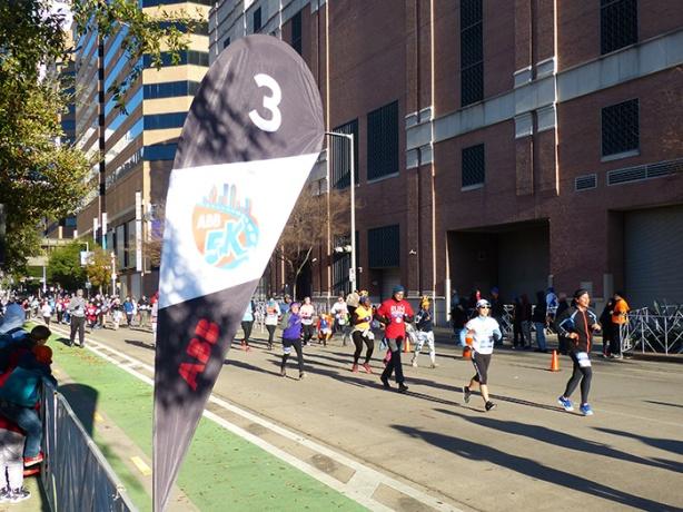 Katie Ho finishing Houston Marathon ABB 5K