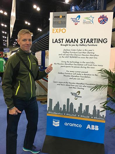 Houston Marathon Last Man Starting promotion e2b18fe72bf