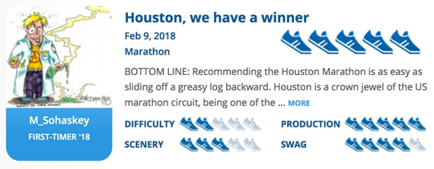 Mike Sohaskey's Houston Marathon review on RaceRaves