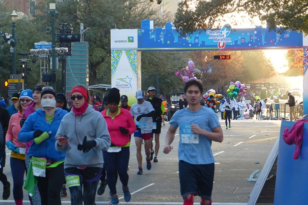 Finally starting the Houston Marathon