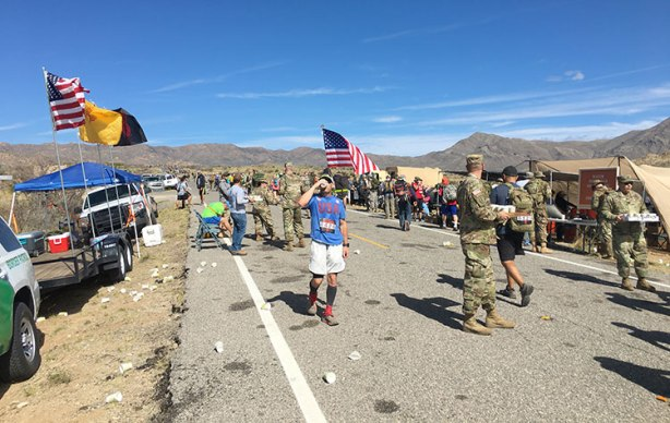 Bataan Memorial Death March aid station in mile 19