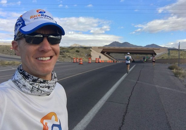 Mike Sohaskey at Bataan Memorial Death March mile 9
