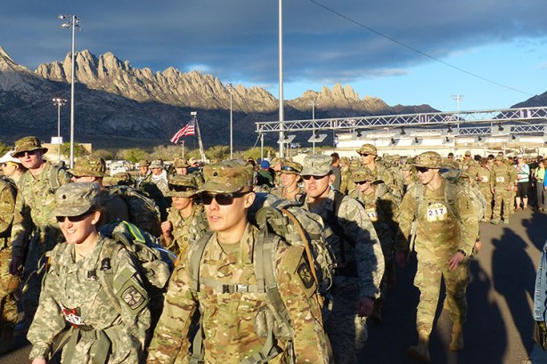 Bataan Memorial Death March race start for Military Heavy Division