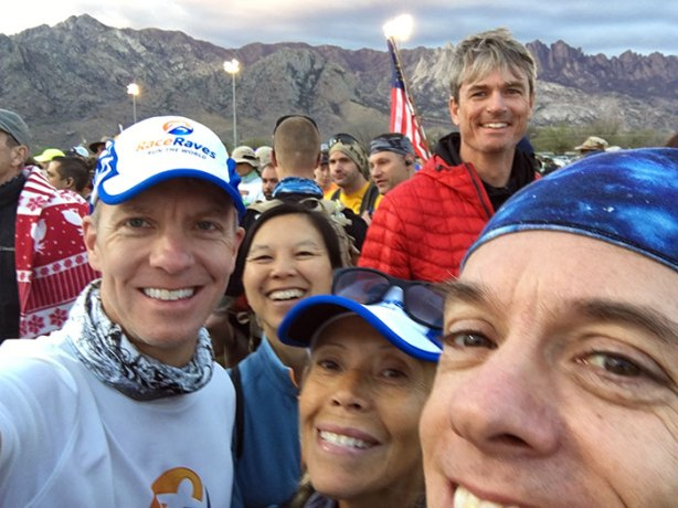 Bataan Memorial Death March start line selfie