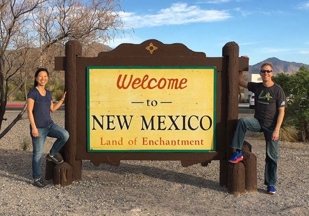 MIke Sohaskey & Katie Ho - Welcome to New Mexico sign