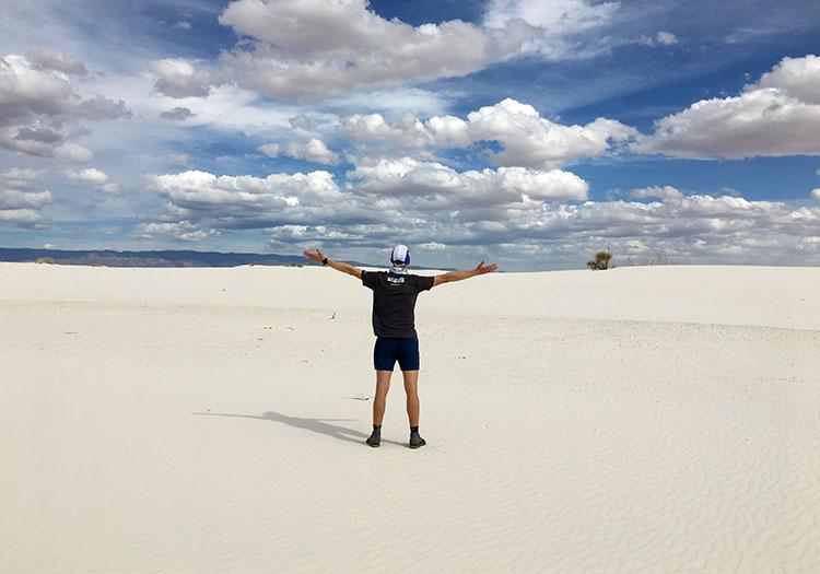 Mike Sohaskey at White Sands National Monument
