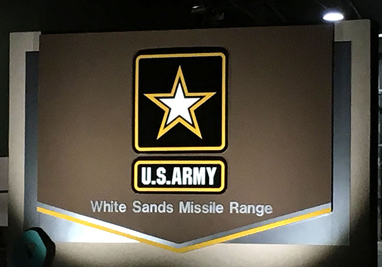 White Sands Missile Range sign pre-race