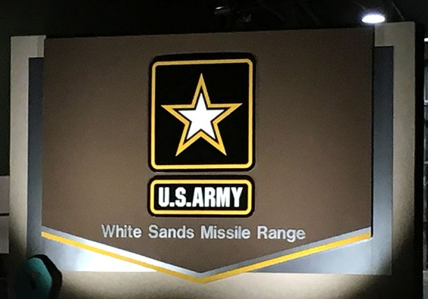 White Sands Missile Range sign pre-race