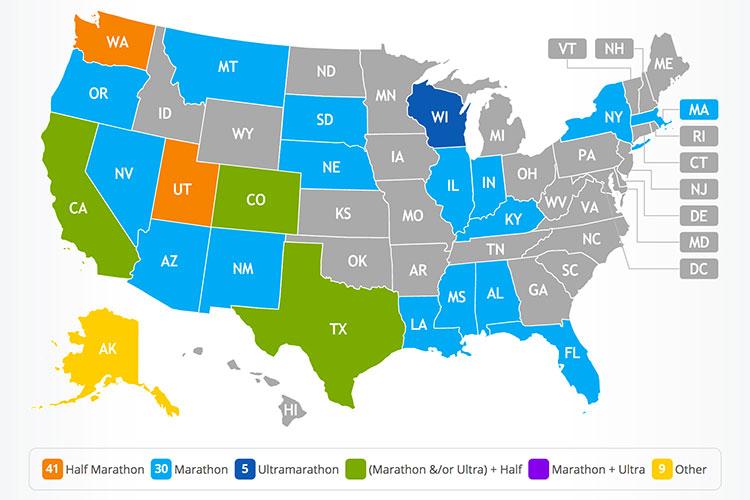 Mike Sohaskey 50 States map