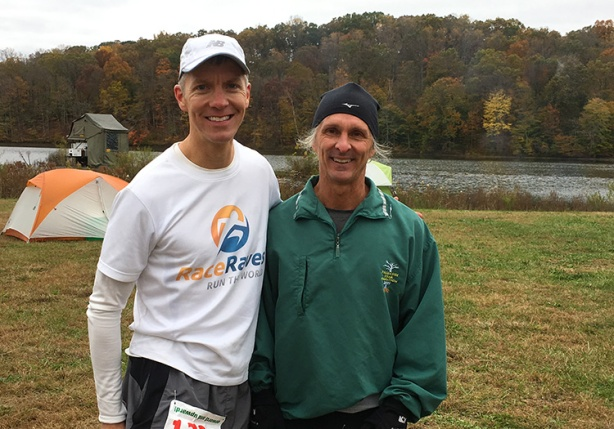 Mike Sohaskey and Jeff Rohleder at Tecumseh Trail Marathon