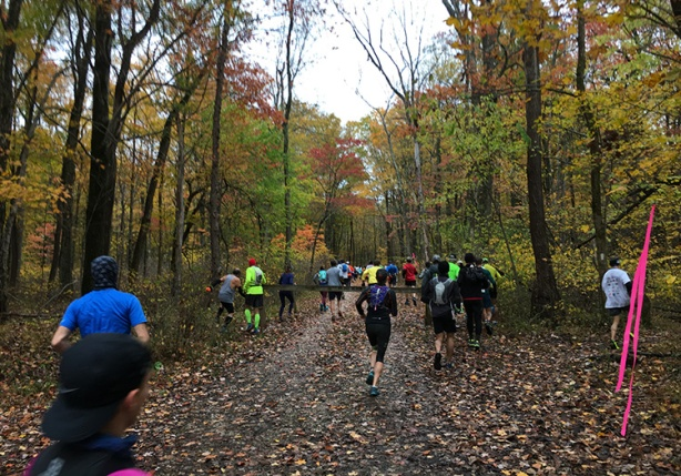 Tecumseh Trail Marathon mile 1