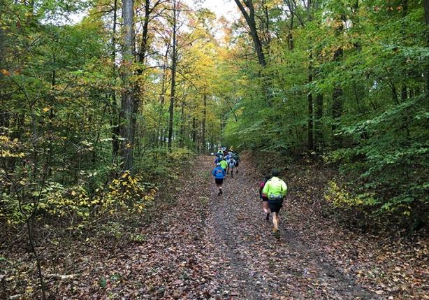 Tecumseh Trail Marathon mile 3