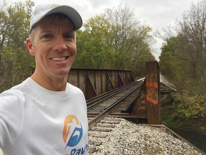 Mike Sohaskey at Tecumseh Trail Marathon mile 12
