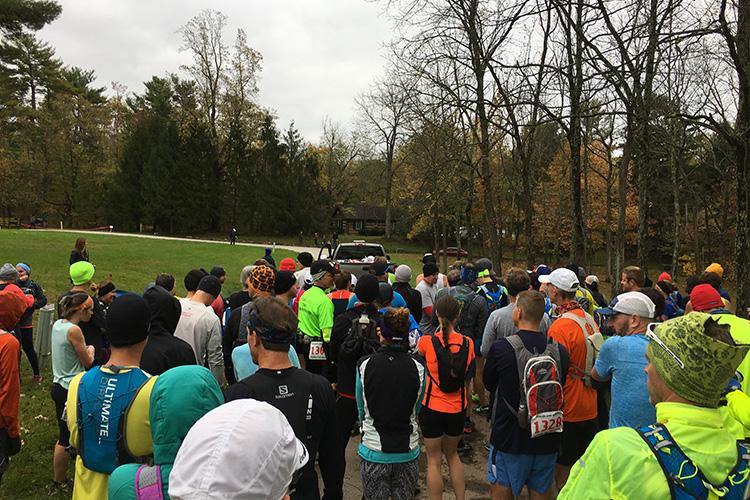 Tecumseh Trail Marathon start area