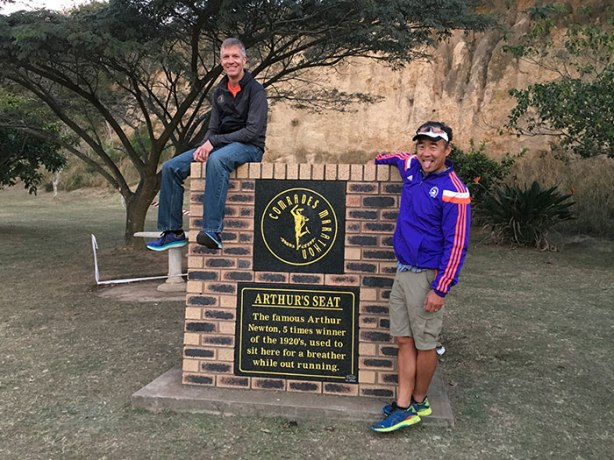 Mike Sohaskey and Jimmy Nam at Arthur's Seat