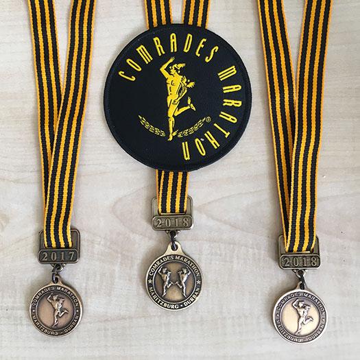 2017-2018 Comrades Marathons medals